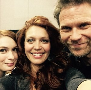 Felicia Day, Alaina Huffman and Mark Pellegrino