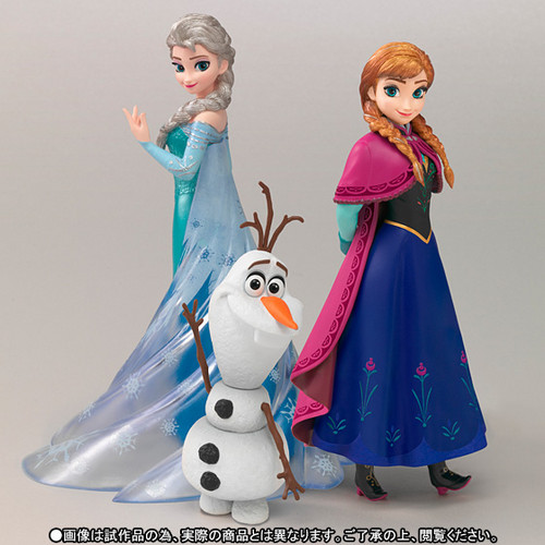 Frozen kertas dinding called Frozen Elsa, Anna and Olaf Figuarts Zero Figures