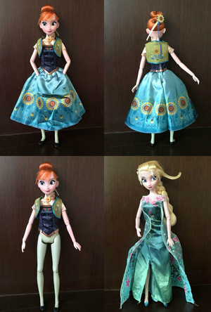 frozen Fever Anna and Elsa muñecas