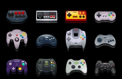 Permainan Video kertas dinding titled Gaming Controllers