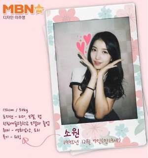 Gfriend official profiles Sowon