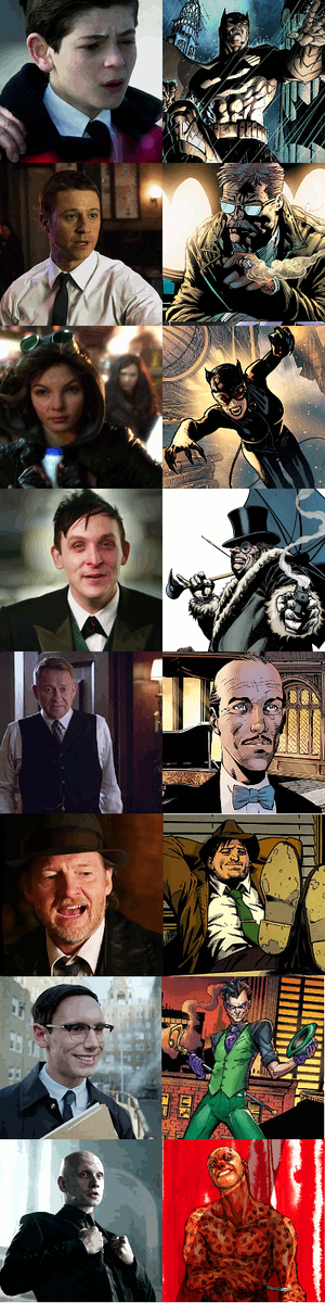 Gotham Characters - Series & Later Comic Version