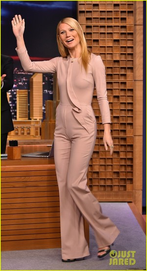 Gwyneth Paltrow @ The Tonight Show Starring Jimmy Fallon on Wednesday (January 14) in New York City.