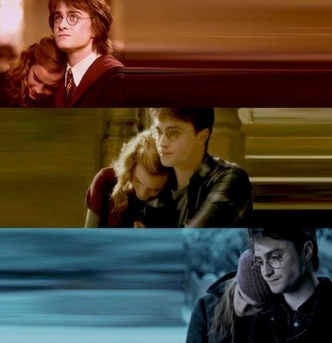 Harry and Hermione wallpaper titled Harry