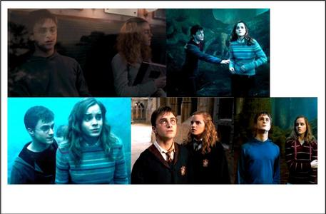 Harry and Hermione wallpaper probably containing a portrait titled Harry