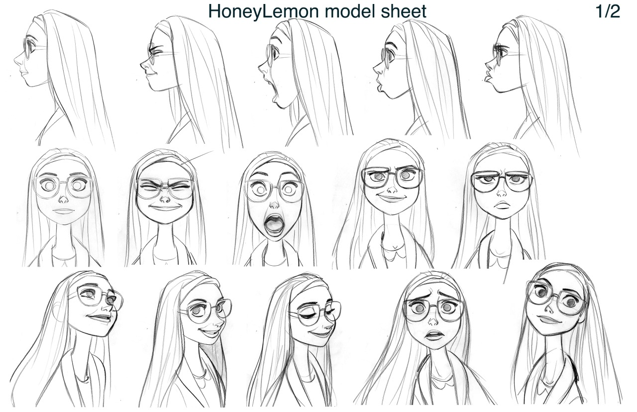 Disney Character Concept Design : Honey lemon model sheet big hero photo  fanpop