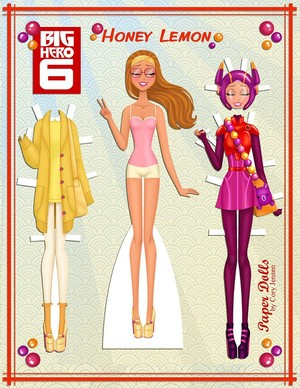 Honey Lemon Paper Doll