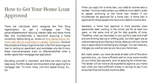 How to Get Your início Loan Approved