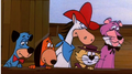 Huck, Doggie Daddy, QuickDraw, haut, retour au début Cat, and Snagglepuss