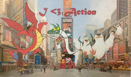 American Dragon: Jake Long achtergrond probably with a straat and anime titled I <3 Action!