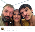 Ian Beattie, Indira Varma and Pedro Pascal