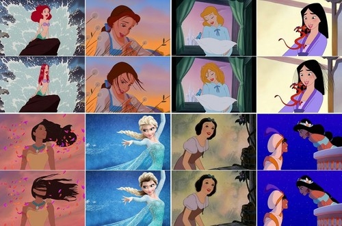 Disney Princess wallpaper with a stained glass window called If-Disney-Princesses-Had-Realistic-Hair.