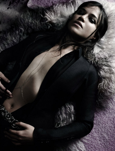 Michelle Rodriguez Hintergrund titled Interview Magazine Photoshoot - February 2015