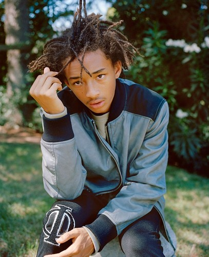 Jaden Smith karatasi la kupamba ukuta probably with a well dressed person, an outerwear, and a box kanzu, koti entitled Jaden Smith