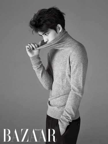 JYJ kertas dinding titled Jaejoong for 'Harper's Bazaar'