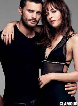 Jamie Dornan and Dakota Johnson- Glamour magazine 2015