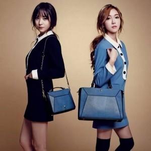 Jessica and Krystal's 'LAPALETTE' spring handbag pictorial