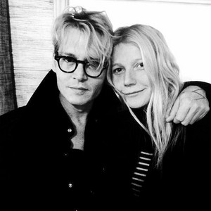 Johnny and Gwyneth Paltrow