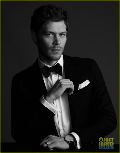 Joseph Morgan wallpaper probably with a business suit entitled Joseph Morgan photoshoot in JustJared.com