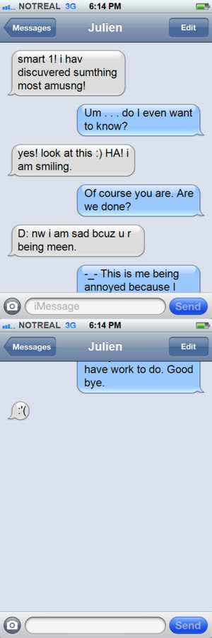 Kowalski and Julien iPhone text-Discovery of the araw