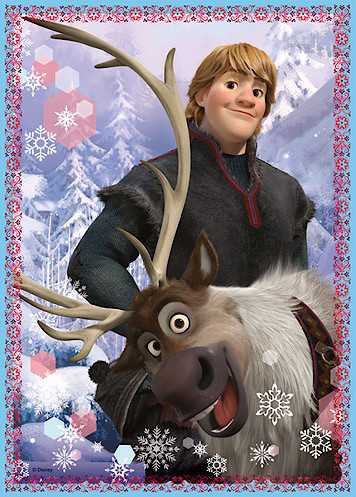 Frozen wallpaper probably with a jack, caribou, and a lippizan called Kristoff and Sven