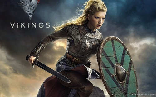 Vikings (TV Series) wallpaper probably with a shield and a surcoat called Lagertha wallpaper