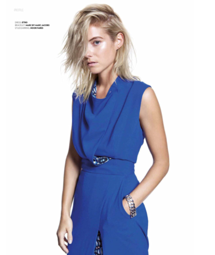 Laura Ramsey fond d'écran probably containing a chemise and a cocktail dress titled Laura Ramsey - Prestige Indonesia Photoshoot - September 2014