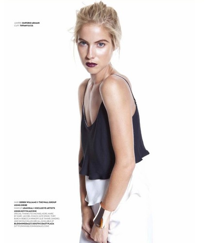 Laura Ramsey fond d'écran possibly containing a playsuit, a chemise, and a chemise called Laura Ramsey - Prestige Indonesia Photoshoot - September 2014