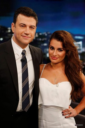 Lea Michele On Jimmy Kimmel