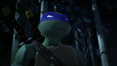 2012 Teenage Mutant Ninja Turtles wallpaper probably containing a green baret called Leonardo Hamato