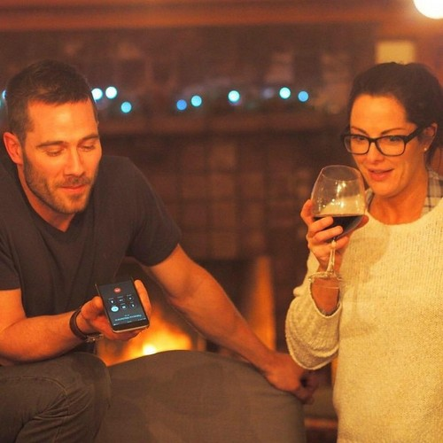 Luke Macfarlane پیپر وال probably with a spatula کے, گوندھنے and alcohol entitled Luke and his twin sister Ruth