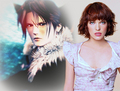 MILLA JOVOVICH AND FAKE FANS SQUALL LEONHART