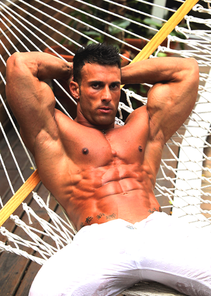 Male Model with Tight Abs
