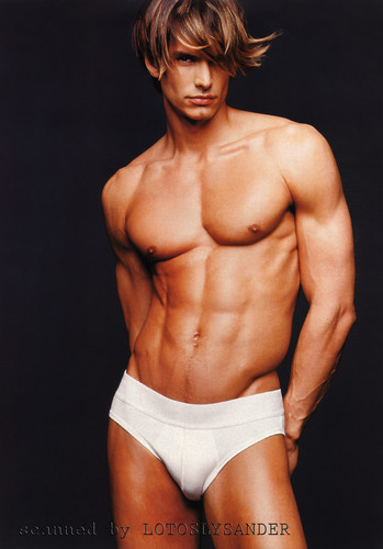 Male Models wallpaper containing a six pack called Marcus Schenkenberg for JOOP 1998