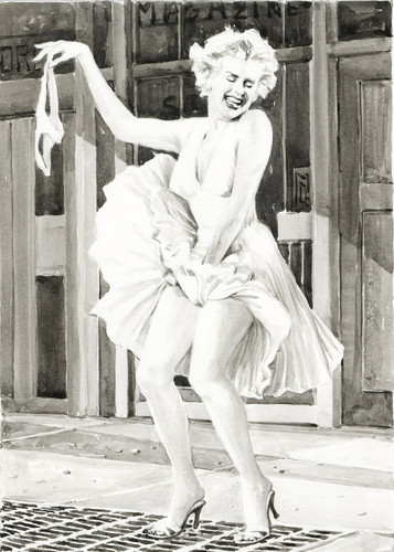 Marilyn Monroe wolpeyper possibly with a street, a business suit, and a hip boot entitled Marilyn Monroe - No Panties