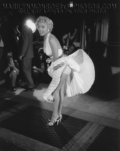 Marilyn Monroe wallpaper possibly containing a street entitled Marilyn Monroe - The Seven Years Itch - Panties 3