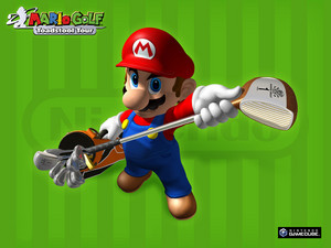 Mario Golf Toadstool Tour karatasi la kupamba ukuta