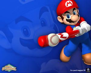 Mario Superstar Baseball karatasi la kupamba ukuta