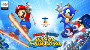 Mario and Sonic at the Olympic Winter Games kertas dinding