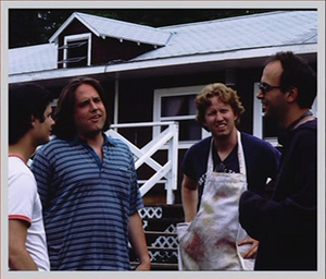 Michael Ian Black, Zak Orth, Ad Miles and David Wain in Wet Hot American Summer