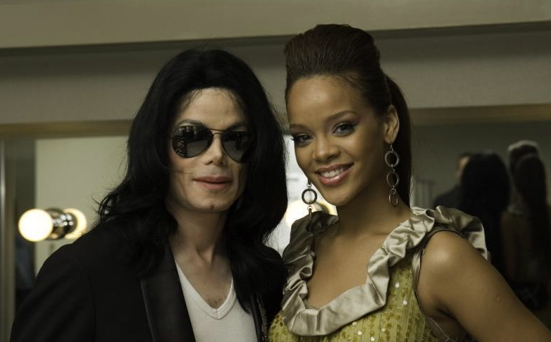 Michael Jackson and Rihanna in 2007 Japon World musique Award