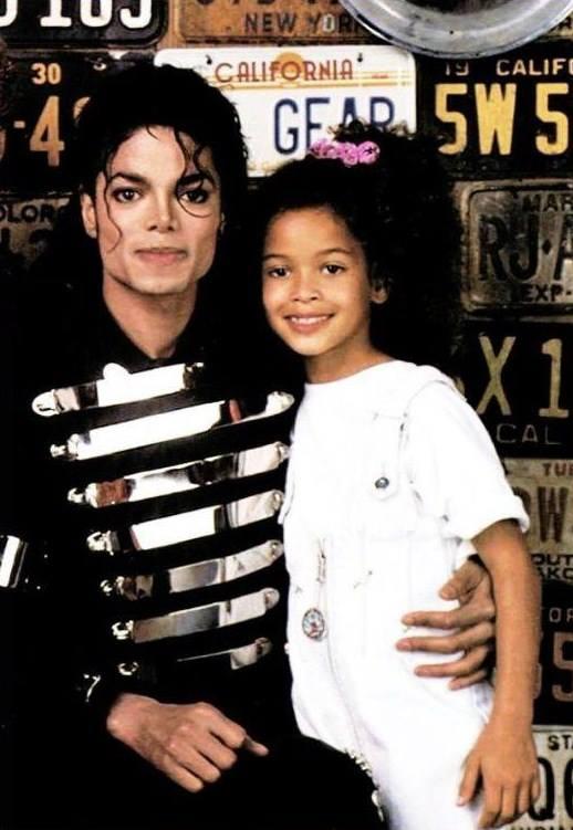 Michael Jackson and his niece Brandi Jackson