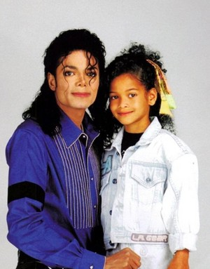 Michael Jackson and his niece Brandi Jackson