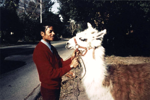 Michael Jackson and lama