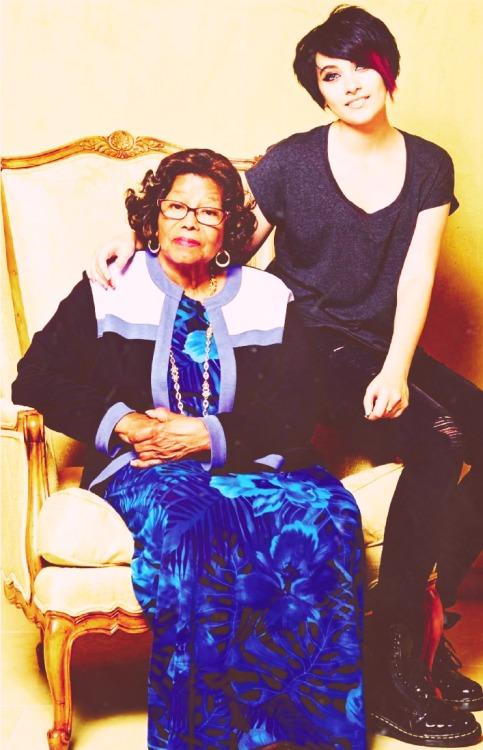 Michael Jackson mother Katherine Jackson and daughter Paris Jackson