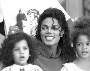Michael with his nephew Jeremy Jackson and niece Brandi Jackson
