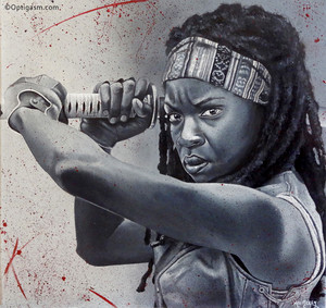 Michonne Painting - The Walking Dead