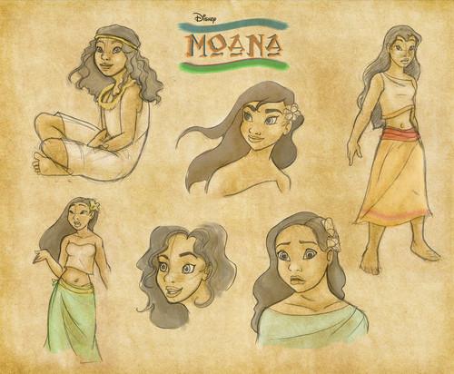 Disney's Moana वॉलपेपर with ऐनीमे called Moana