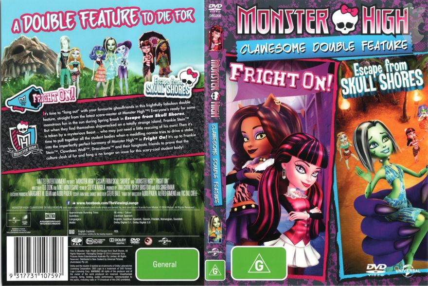 Monster High Clawesome Double Freature DVD