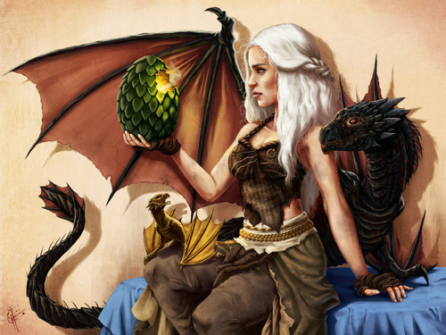 Daenerys Targaryen wallpaper possibly containing a bouquet, a sign, and Anime entitled Mother of Draghi
